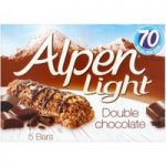 Alpen Light Bars Double Chocolate Multipack 5x19g