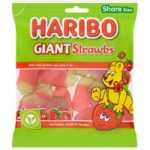 HARIBO Giant Strawbs Bag 190g