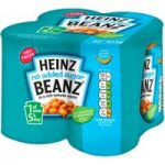 Heinz No Added Sugar Beanz in a Rich Tomato Sauce 4 x 415g
