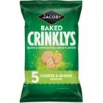 Jacobs 5 Baked Crinklys Cheese & Onion Flavour 125g
