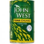 John West Tuna Chunks in Sunflower Oil 4 x 145g