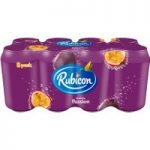 Rubicon Sparkling Passion Fruit Juice Drink 8 x 330ml Cans
