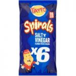 Tayto Spirals Salt 'N' Vinegar Flavour Potato Snacks 6 x 20g (120g)