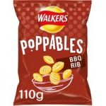 Walkers Poppables BBQ Rib Snacks 110g