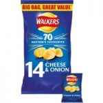 Walkers Cheese & Onion Crisps 12x25g