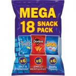 Walkers Mega Variety Snacks 18 Packs