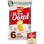 Walkers Baked Sea Salt Snacks 6x25g