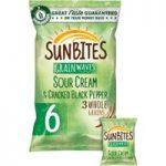 Sunbites Sour Cream Multigrain Snacks 6x25g