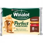 PURINA® WINALOT® Perfect Portions Adult Dog in Gravy Wet Food Pouch 4 x 100g