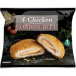 Iceland 4 Chicken Cordon Bleu 500g