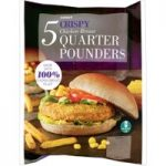 Iceland 5 Crispy Chicken Breast Quarter Pounders 565g