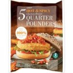 Iceland 5 Hot & Spicy Chicken Breast Quarter Pounders 565g