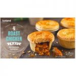 Iceland Short Crust Pastry 4 Roast Chicken Pies Topped with Puff Pastry 568g